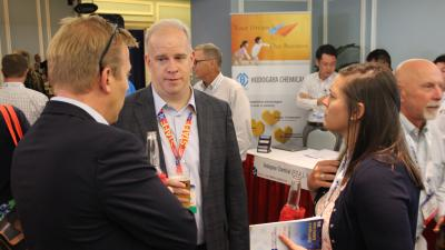 Chemicals America's own Tom Leahy speaking with Attendees